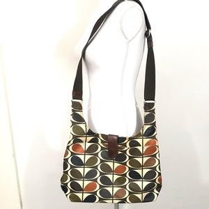 Orla Kiely Crossbody Bag Coated Canvas Multi Stem
